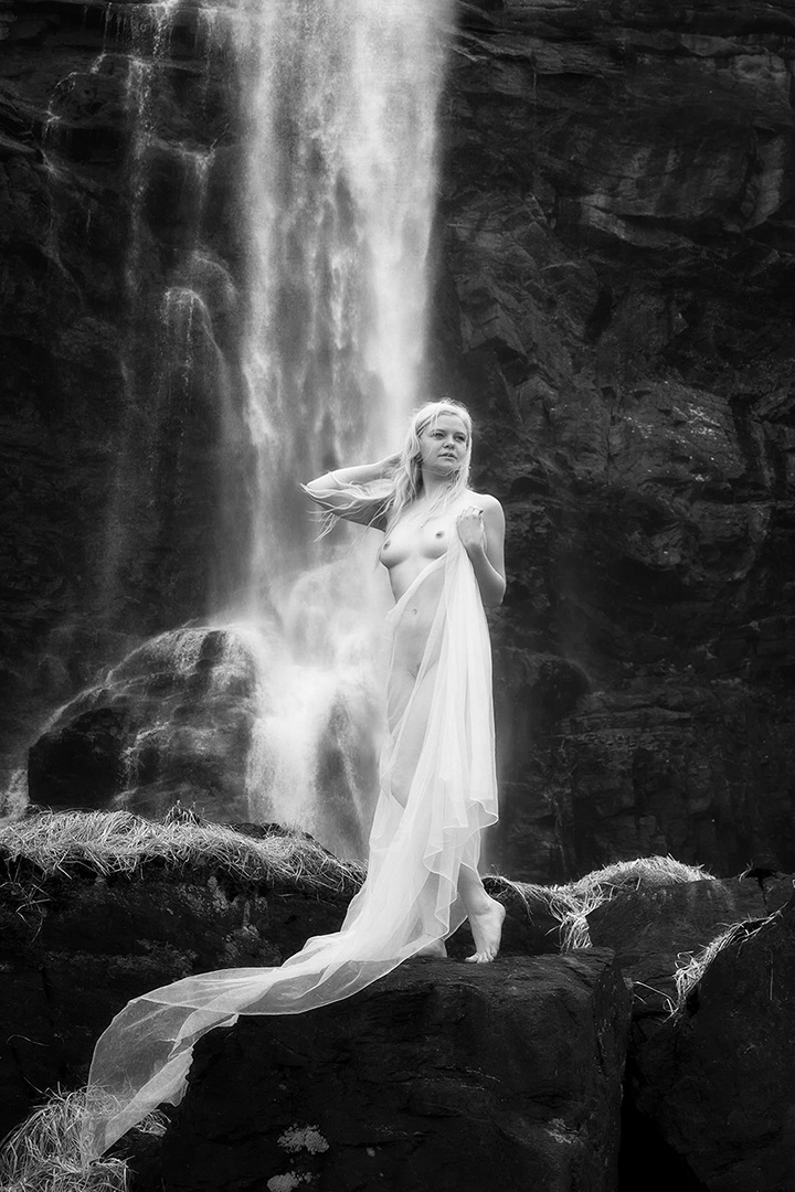 Mono Nude by Waterfall