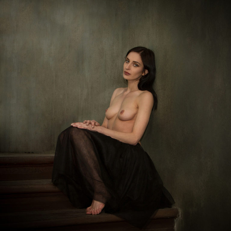 Natalia on the stairs I