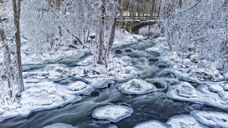 Kauttua rapid at Winter 1