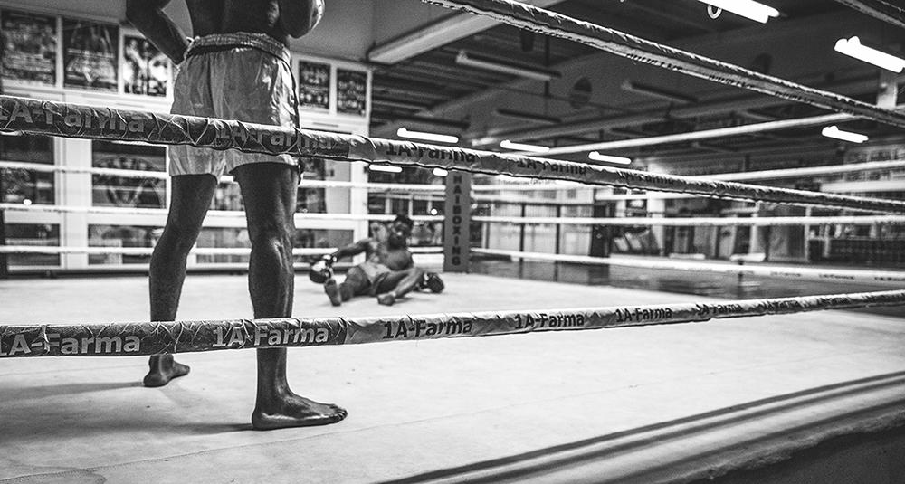 Boxing fight (photo: Reza Vahdati)