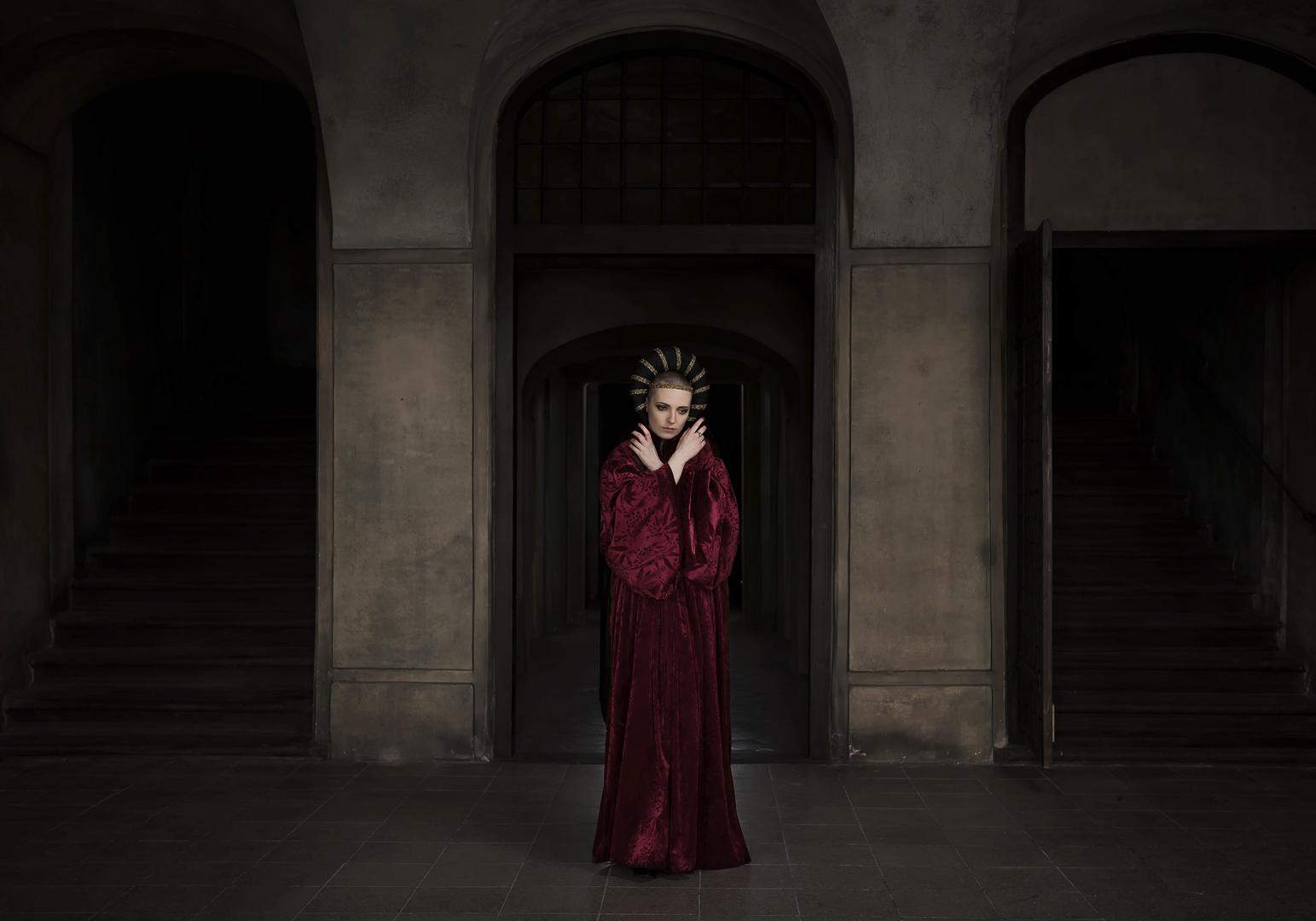 Woman in hall, Kim Kristensen